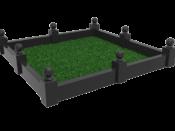 Ограда на кладбище - ПРУ «Память»